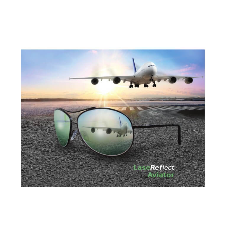 LaseReflect glasses with glass lens
