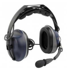 Casque Pilot Communications PA 17-72T : double jack aviation - mono/stéréo - actif ANR - câble droit