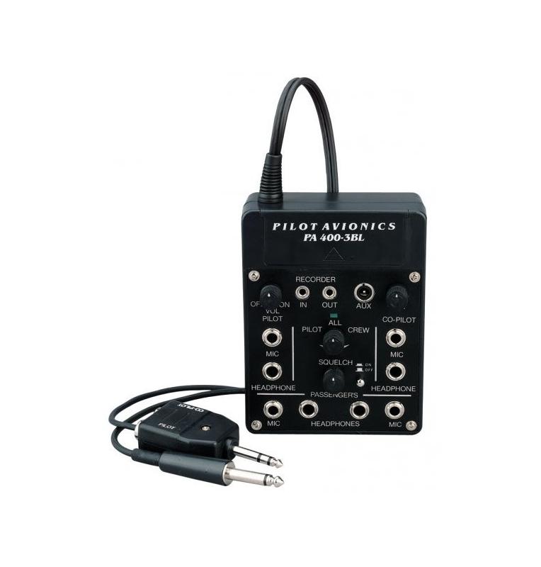 Pilot Communications Intercom portable pour 4 casques avec ASC - compatible portable