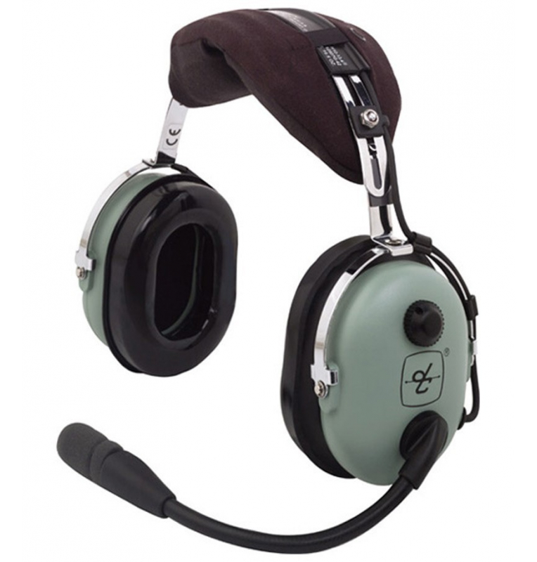 Casque David Clark H10-13.4 : double jacks aviation - passif - câble droit