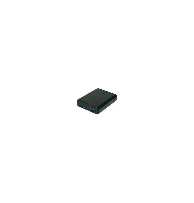 Boitier piles avec connecteur femelle USB