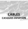 Câbles - Casque aviation