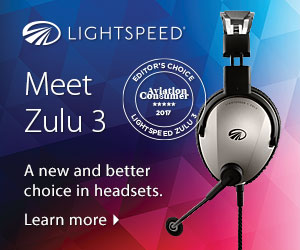 Visuel casque avion Lightspeed Zulu 3 editor's choice