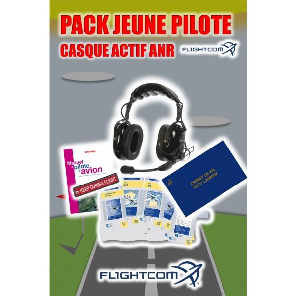 Pack jeune pilote casque aviation actif ANR